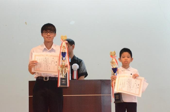 フラッシュ5・6年中学優勝者(森啓夢、山内颯